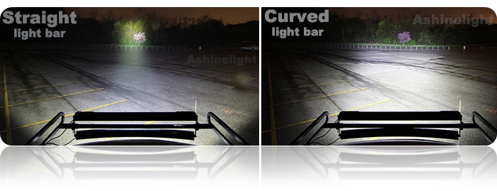 Straight led light bar single row 30w comparison between straight and curved light bar aloadofball Image collections